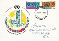 25 OCT 1965 UNITED NATIONS NON PHOSPHOR REMBRANDT FIRST DAY COVER LONDON WC FDI