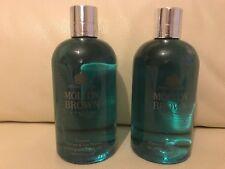 Molton Brown 2 x 300ml Coastal Cypress & Sea Fennel Bath & Shower Gel BRAND NEW