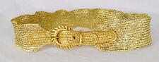 Rare Vintage 50s Gold Lame Stretch Belt Woven