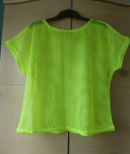 BNWT, COOL, NEON-YELLOW, STRING VEST TOP - ABOUT UK 10-12