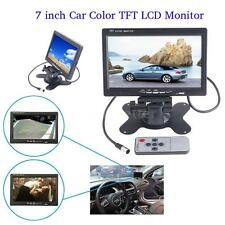 7 Inch TFT LCD Color Car Rear View Headrest Monitor DVD VCR with 2 AV Input US