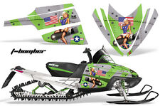 AMR Racing Arctic Cat M Series Snowmobile Graphic Kit Sled Wrap Decals TBOMB GRN