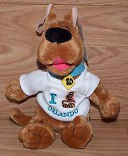 2002 Scooby Doo I Love Orlando Stuffed Animal / Plush From Universal Souvenir