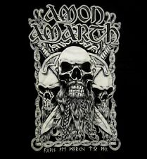 AMON AMARTH cd lgo BEARDED SKULL Official Black SHIRT MED new