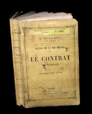 BALZAC (Honoré de) - Le Contrat de mariage. 1857.