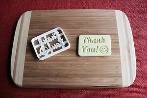 Thank You Text Cookie Cutter Biscuit Stamp Cake Topper Fondant cutter Cupcake