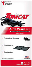 Tomcat Mouse Glue Trap W/Eugenol Rat And Mouse Bait Rodent Poison Traps 6