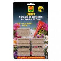 Compo concime in bastoncini x piante da fiore con guano 30x nutrimento completo