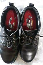 Men's Black Sketchers Work Relaxed Fit Shoes Slip Resistant