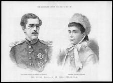 1881 Antique Print - AUSTRALIA Carlsruhe Crown Prince Sweden Victoria Baden (49)