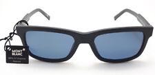 MONT BLANC MB653 /S 02V - Satin Black frame - Blue Polarized lenses