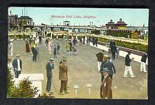 Posted 1929 View of People playing Miniature Golf, Brighton