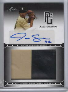 JUSTUS SHEFFIELD Signed 2013 LEAF Perfect Game AUTO Rookie RC (2-Color) GU RELIC