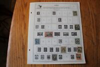 M38 Lot of Chile Stamps on 4 Minkus binder Pages