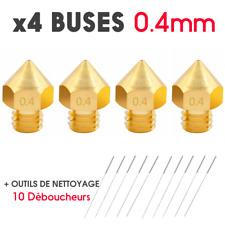 x4 Buse 0.4mm Nozzle pour CREALITY CR-10S PRO imprimante 3D printer + 10 Outils