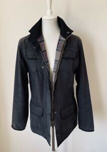 BARBOUR Jacke/Anorak/Utility Jacket, schwarz, Innenfutter mit Tartanprint,Gr. 42