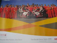 Poster Xerox Ducati Team WSB 08 #21 Troy Bayliss (AUS) #84 Michel Fabrizio (ITA)