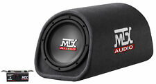 "MTX Road Thunder RT8PT 8"" 240 Watt Powered Subwoofer In Vented/Ported Bass Tube"
