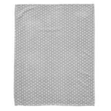 Alvi Microfaser Decke - Kuscheldecke 75x100 cm Stars silber 608-9 NEU