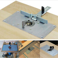 Aluminum Router Table Insert Plate With 4 Rings For Woodworking Benches Tools