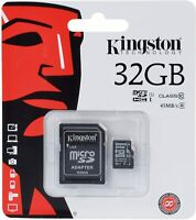 Micro SD Memory Card With Adapter Kingston 32gb for Blackberry Torch 9800 Mobile