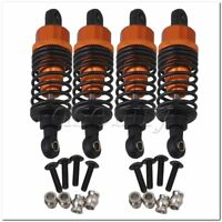 4 x Orange Alloy RC1:10 On Road Car Shock Absorber for HPI RS4 SPORT3