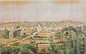 H73/ Springfield Ohio Postcard Chrome View of 1850 Birdseye 80