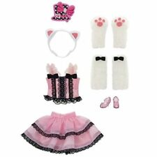 Licca chan Doll Clothes Harajuku girl pink cat dress Japan Tomy outfit wear.