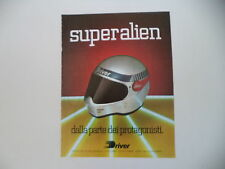 advertising Pubblicità 1984 CASCO HELMET DRIVER SUPER ALIEN