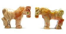 CARVED - Tan DOLOMITE HORSE Spirit Animal Totem w/ Card - Healing Reiki Stone