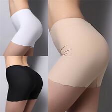 Women Ladies Model Underwear Safety Shorts Leggings Seamless Basic Plain Pants