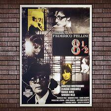 Film Poster Federico Fellini Otto E Mezzo  - Marcello Mastroianni - 70x100 CM