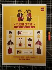 Flight of the Conchords Concert Poster Lego -  14 x 10 Reprint
