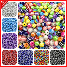 Resin Spacer Round Beads For Jewelry Making DIY Bracelet Necklace Accessories