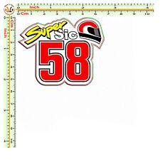 super sic 58 adesivi marco simoncelli auto moto casco corse stampa su pvc 1 pz.