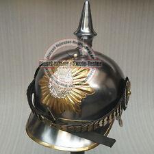 Nackenschirm- Pickelhaube Schuppenriemen Kaiserreich Preußen Larp Tschako