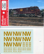 Norfolk and Western NW Tuscan Red Diesel DECALS ShellScale HO110