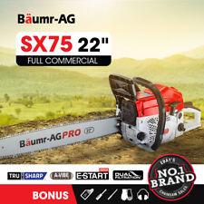 Baumr-AG SX75 2-Stroke 22 inch Top Handle Petrol Chainsaw