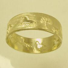 Wedding ring, horse ring, silver wedding ring,woman wedding band