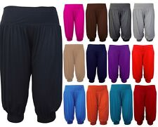 Womens 3/4 Shorts Ladies Baggy Cropped Trousers Harem Leggings Pants Plus Size