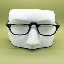 Half Eye +3.25 Reading Glasses Unisex Matte Black Polished Acrylic Wide Frame
