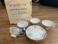 Tea Cups and Saucers IMPERIAL CHINA W. Dalton Japan SEVILLE 5303 8 Pieces NEW