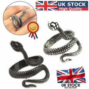 Cool Animal Ring Gothic Stainless Steel Snake Opening Adjustable Women Men Girls