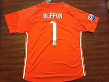 Gianluigi Buffon #1 Juventus Orange GK Adult Large L Soccer Jersey Adidas
