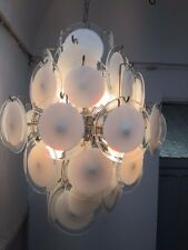 Gino Vistosi chandelier design 60 Murano lamp Mazzega