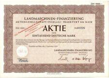 DM-Aktie Landmaschinen Finanzierung 1000 DM 1950 Frankfurt