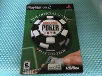World Series of Poker Sony PlayStation 2 PS2 NEW Sealed W/Sleeve Free Shipping