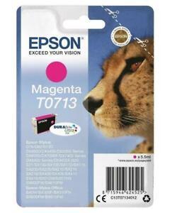 Genuine Epson T0713 Magenta Ink Cartridge (Cheetah) - No Box