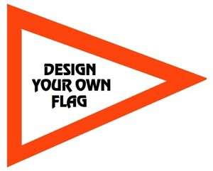 Custom Triangle REVUE font ATV Safety Replacement Whip Flag Made to fit all whip
