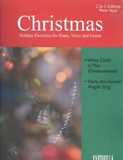Christmas 2 in 1 Piano Vocal Sheet Music What Child Is This Hark Herald Angels